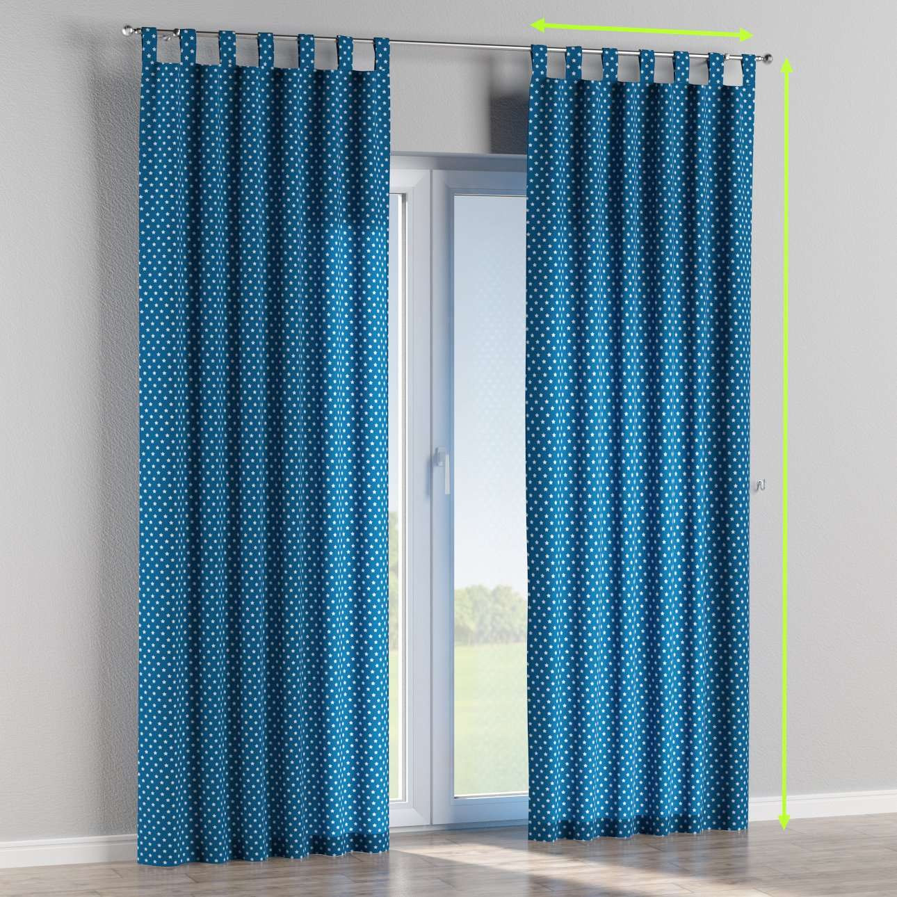 Tab top lined curtains in collection Ashley, fabric: 137-72