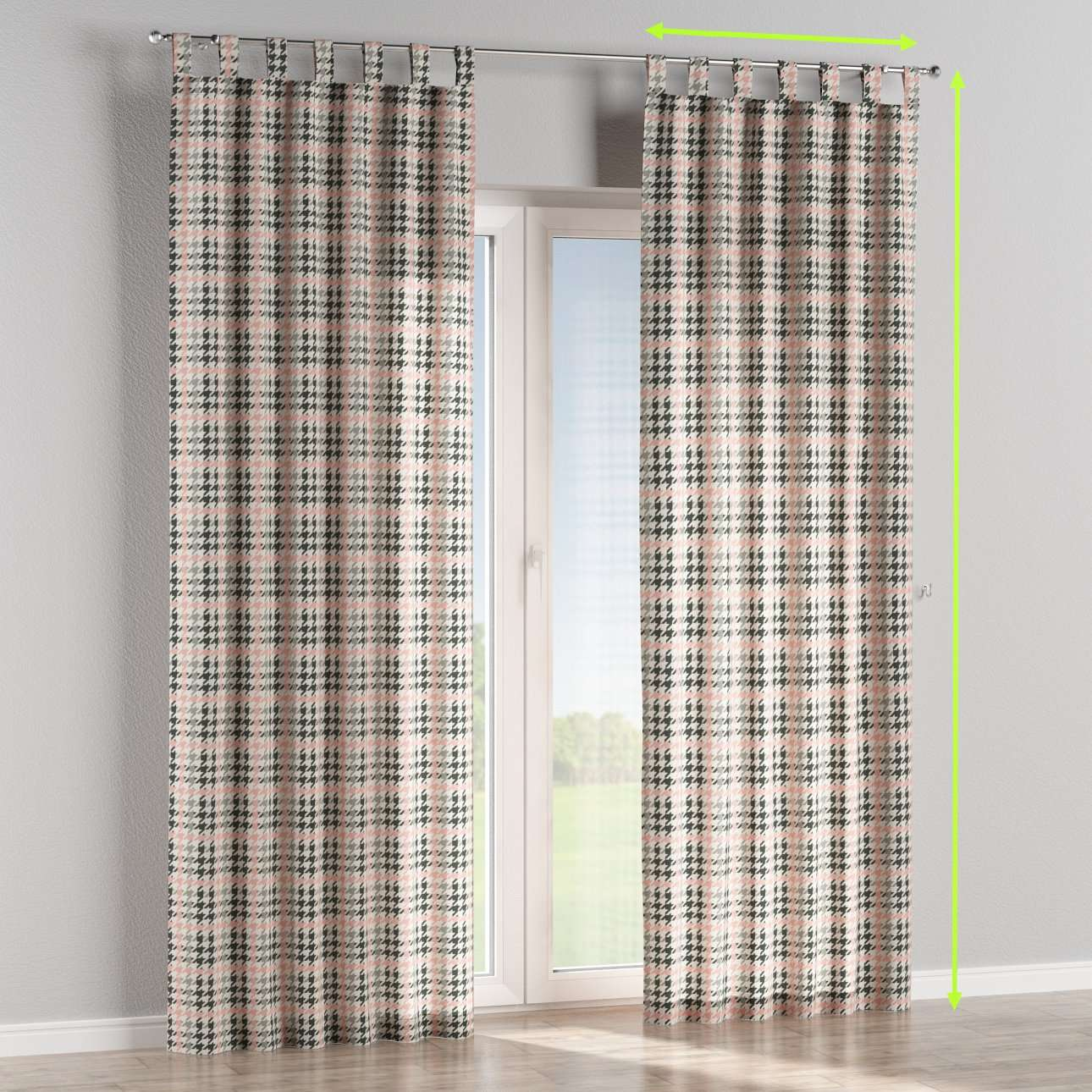 Tab top lined curtains in collection Brooklyn, fabric: 137-75