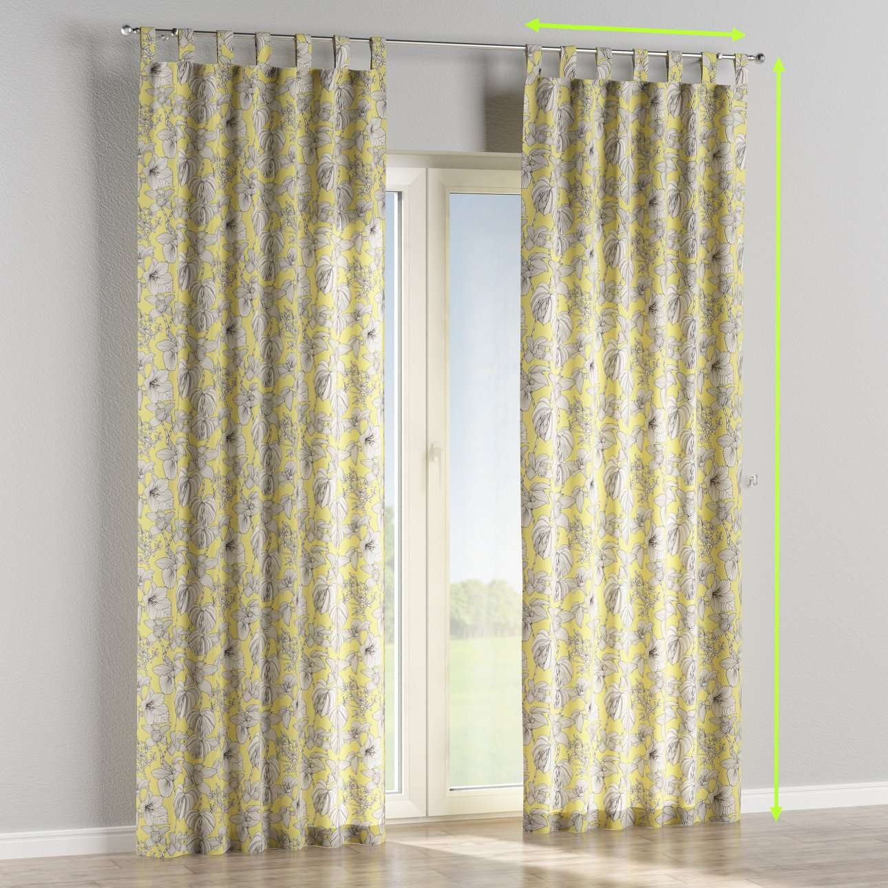 Tab top lined curtains in collection Brooklyn, fabric: 137-78