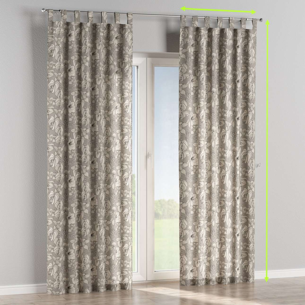 Tab top lined curtains in collection Brooklyn, fabric: 137-80