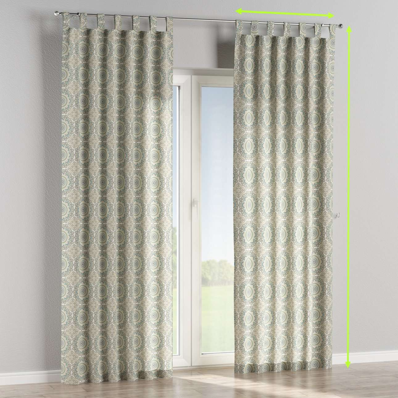 Tab top lined curtains in collection Comic Book & Geo Prints, fabric: 137-84