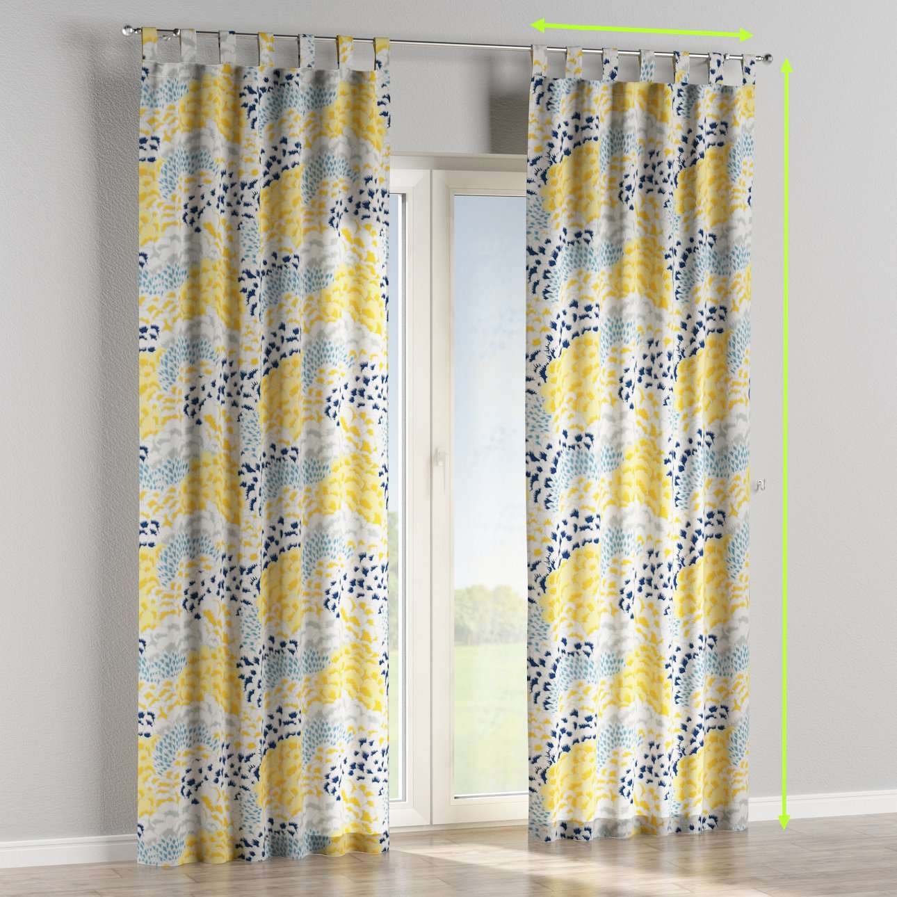 Tab top lined curtains in collection Brooklyn, fabric: 137-86