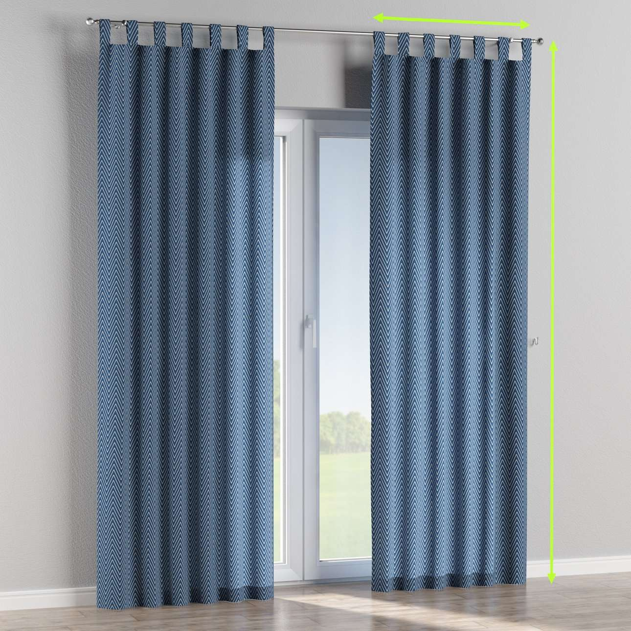 Tab top lined curtains in collection Brooklyn, fabric: 137-88