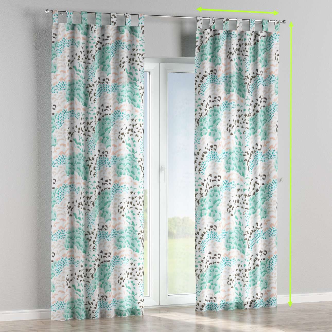 Tab top lined curtains in collection Brooklyn, fabric: 137-89