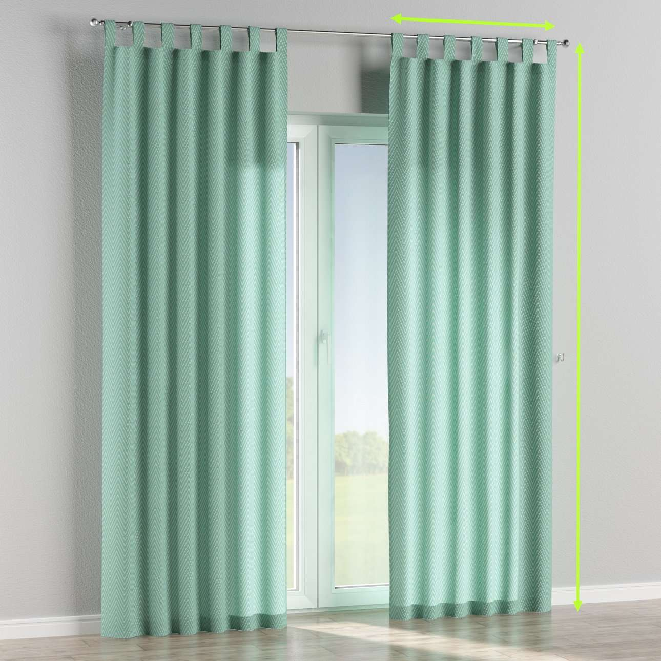 Tab top lined curtains in collection Brooklyn, fabric: 137-90