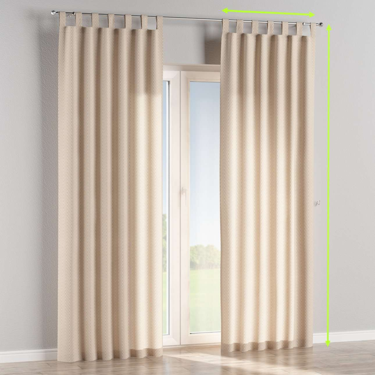 Tab top lined curtains in collection Brooklyn, fabric: 137-91