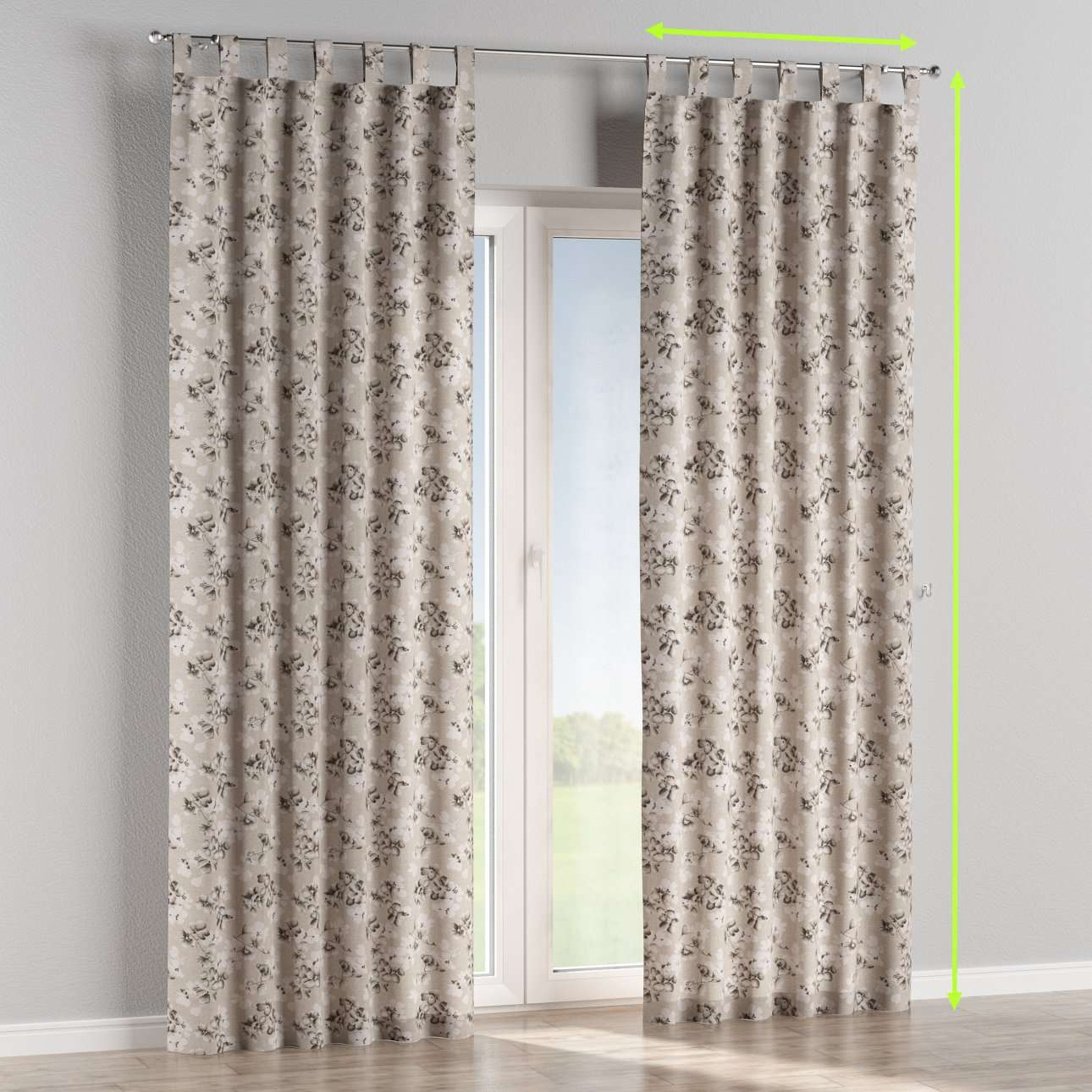 Tab top lined curtains in collection Rustica, fabric: 138-14