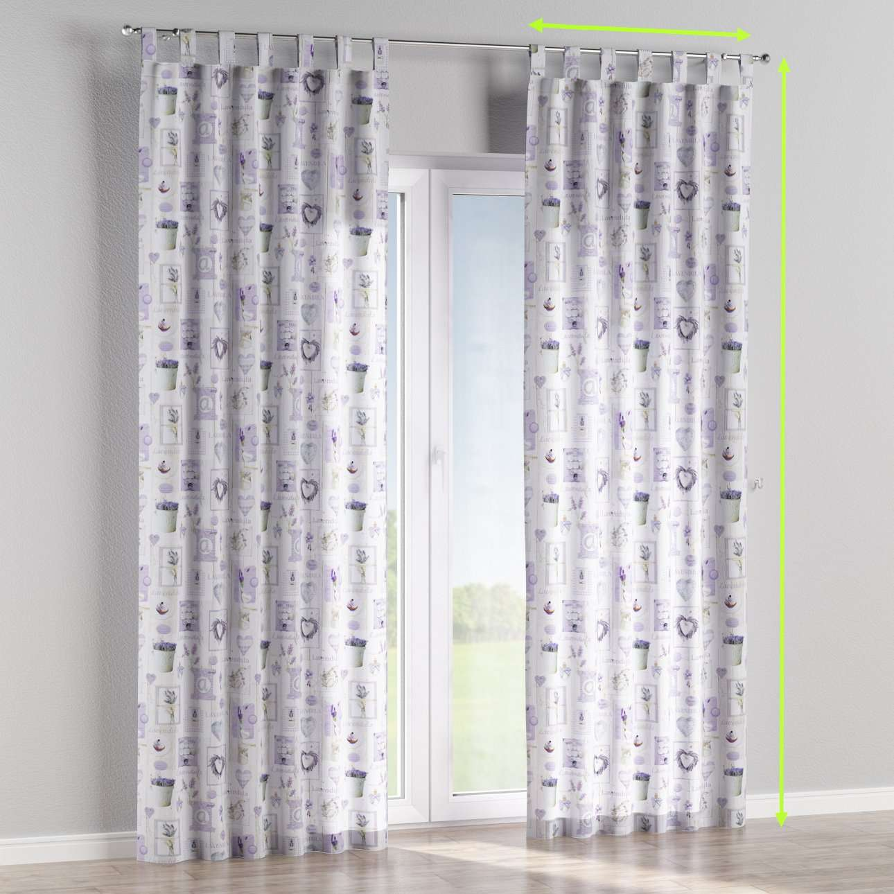 Tab top lined curtains in collection Ashley, fabric: 140-18