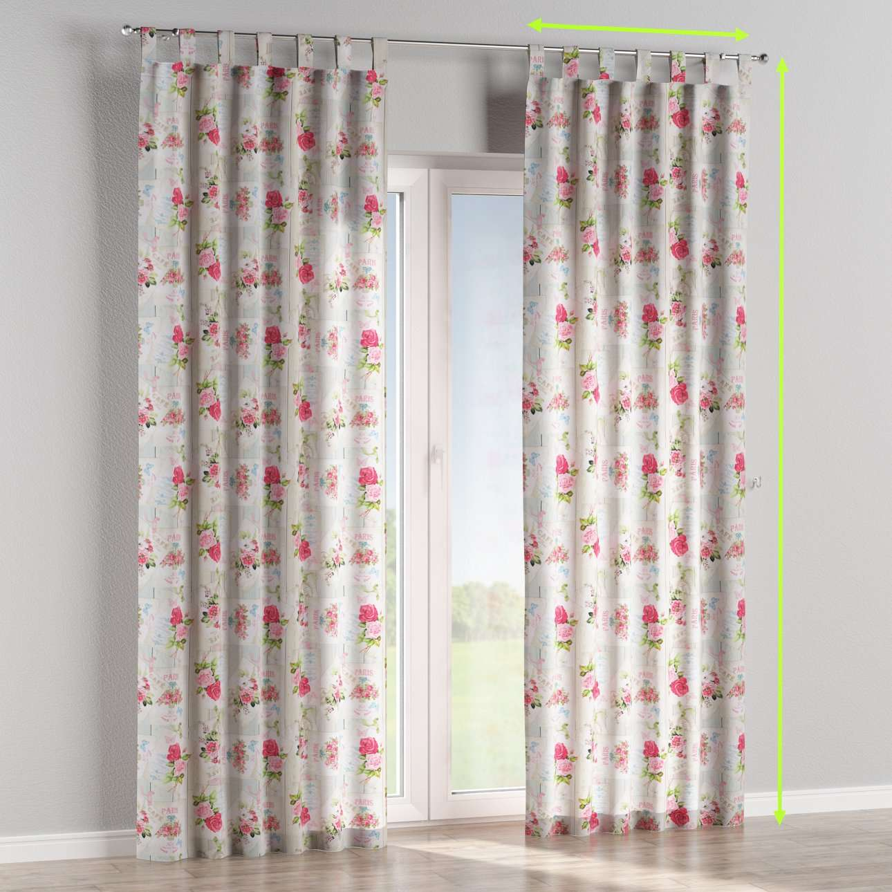 Tab top lined curtains in collection Ashley, fabric: 140-19
