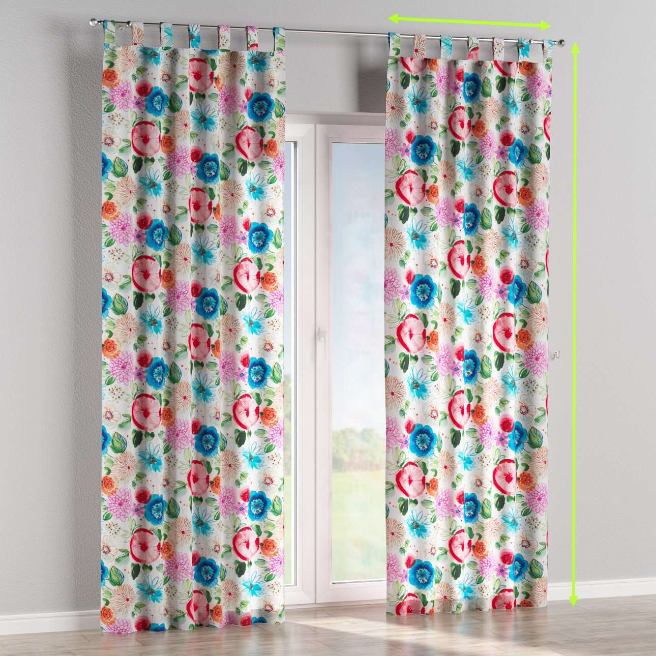 Tab top lined curtains in collection New Art, fabric: 140-24