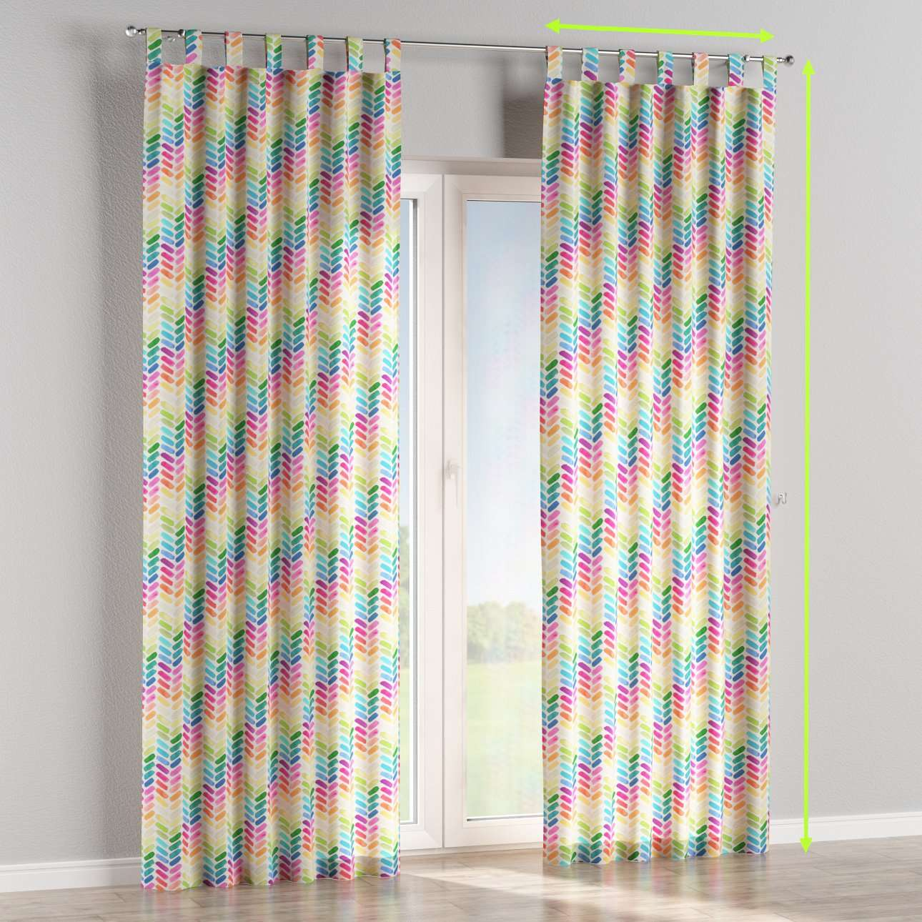 Tab top lined curtains in collection New Art, fabric: 140-25