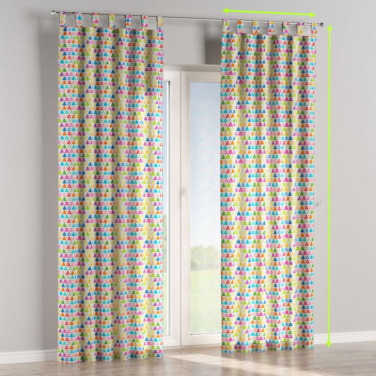 Tab top lined curtains in collection New Art, fabric: 140-27