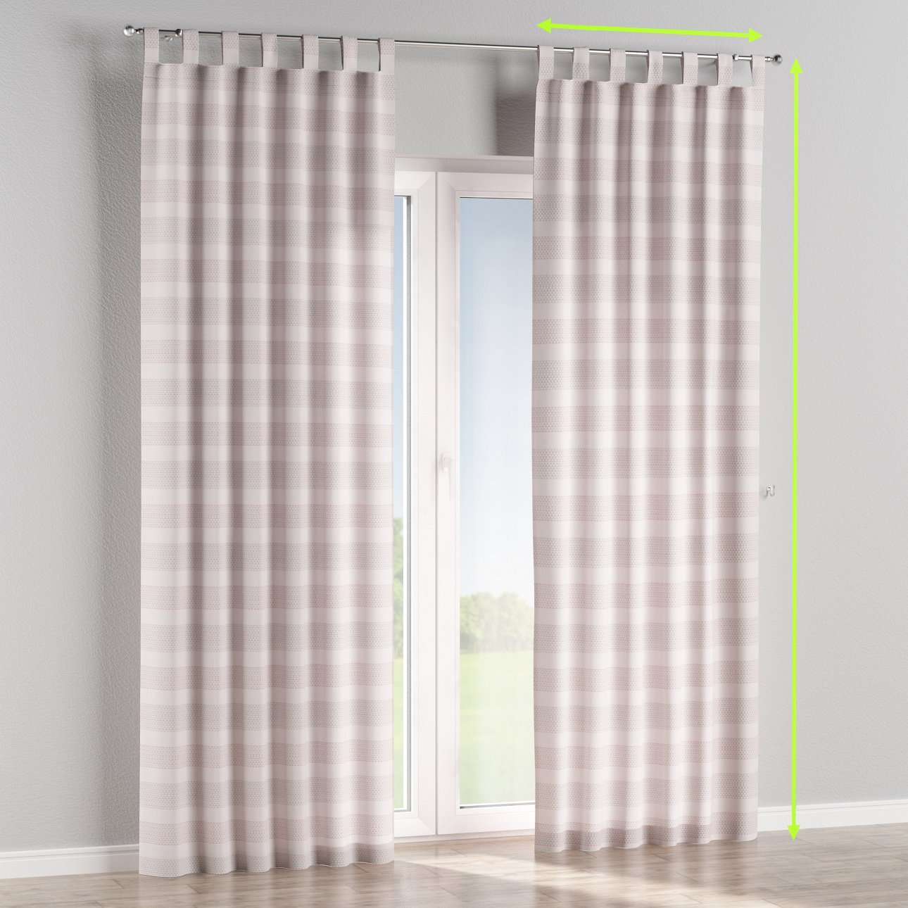 Tab top lined curtains in collection Rustica, fabric: 140-29