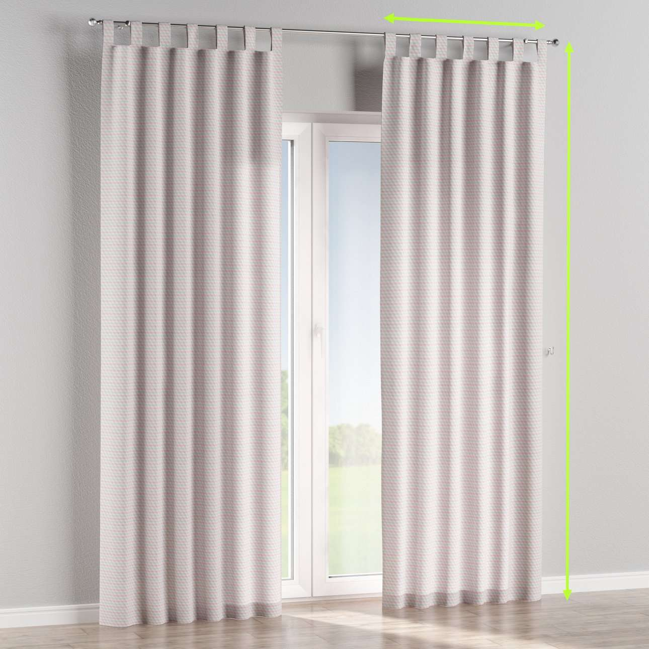 Tab top lined curtains in collection Rustica, fabric: 140-30