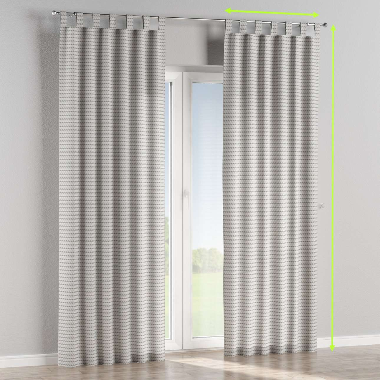 Tab top lined curtains in collection Rustica, fabric: 140-33
