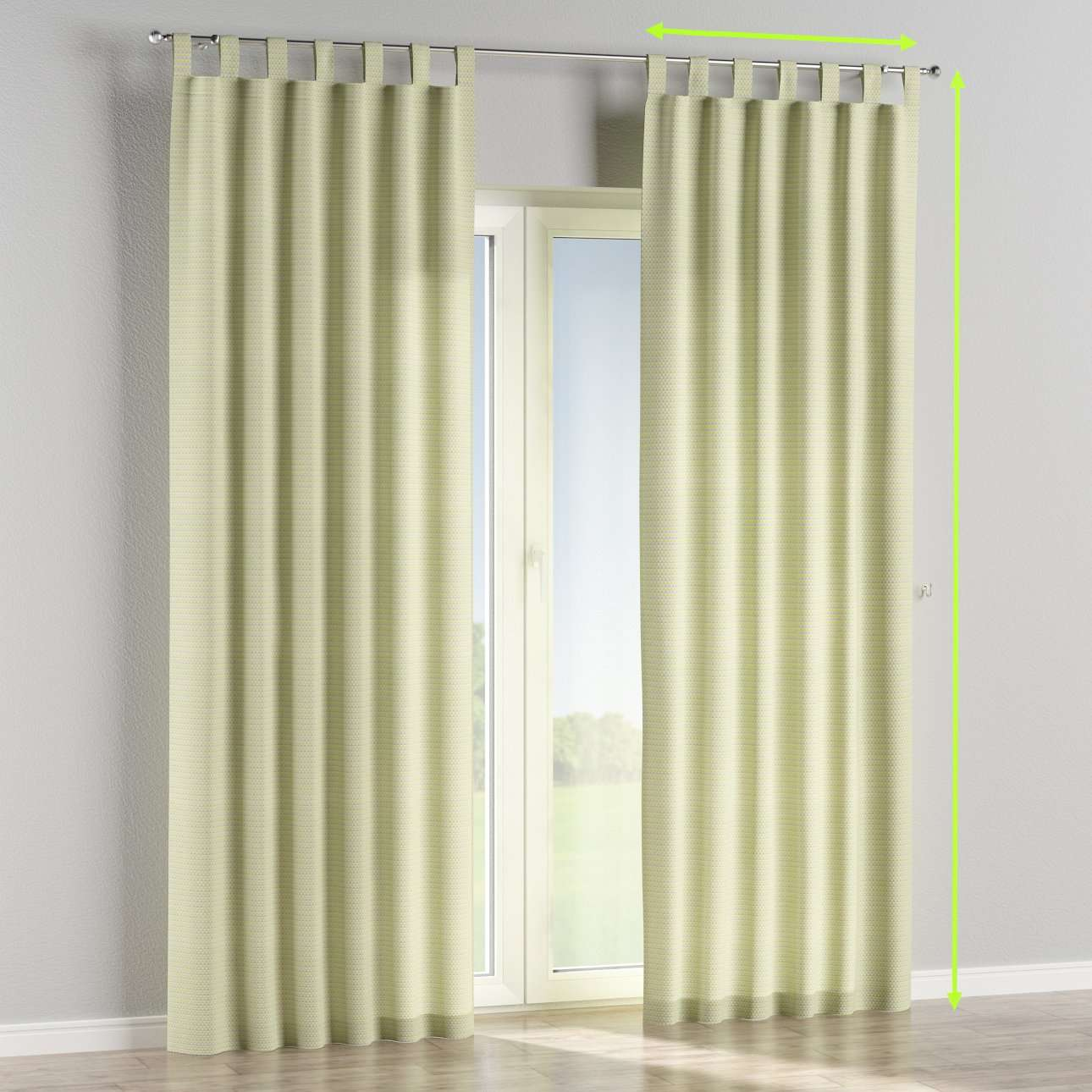 Tab top lined curtains in collection Rustica, fabric: 140-34