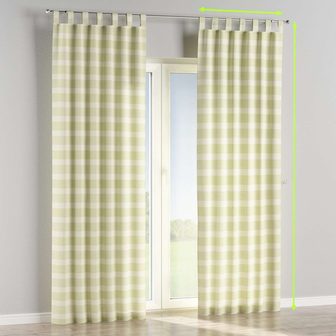 Tab top lined curtains in collection Rustica, fabric: 140-35