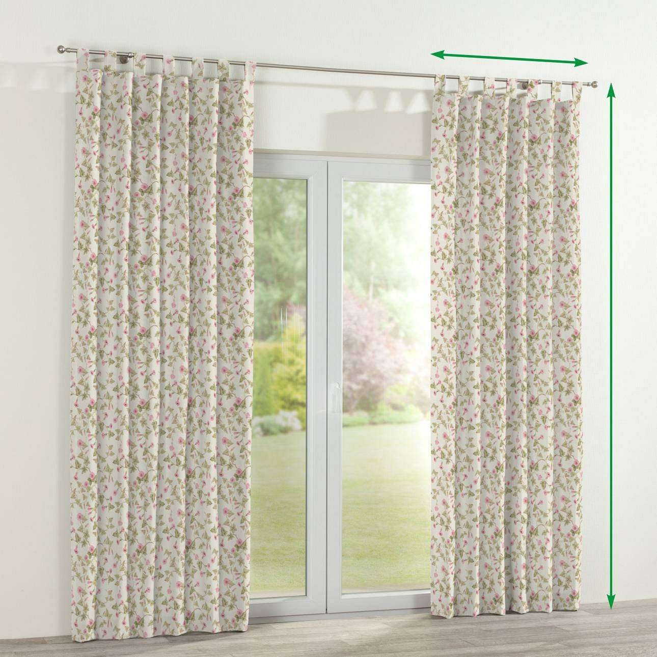 Tab top lined curtains in collection Mirella, fabric: 140-41