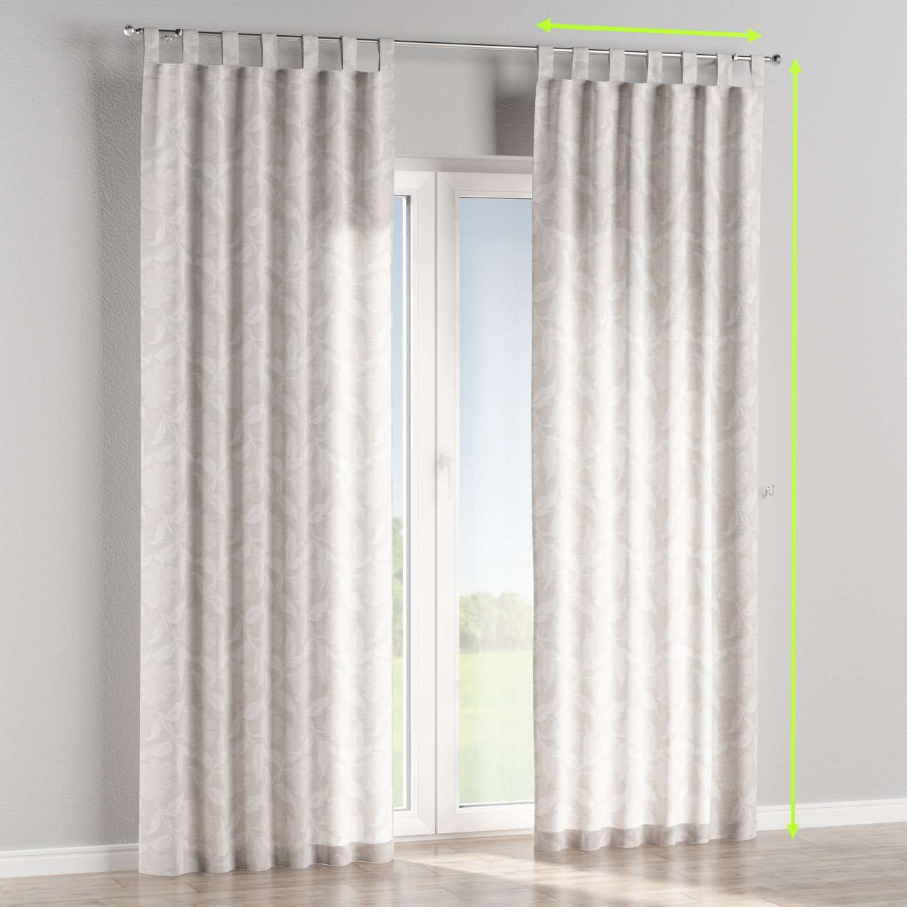 Tab top lined curtains in collection Venice, fabric: 140-51