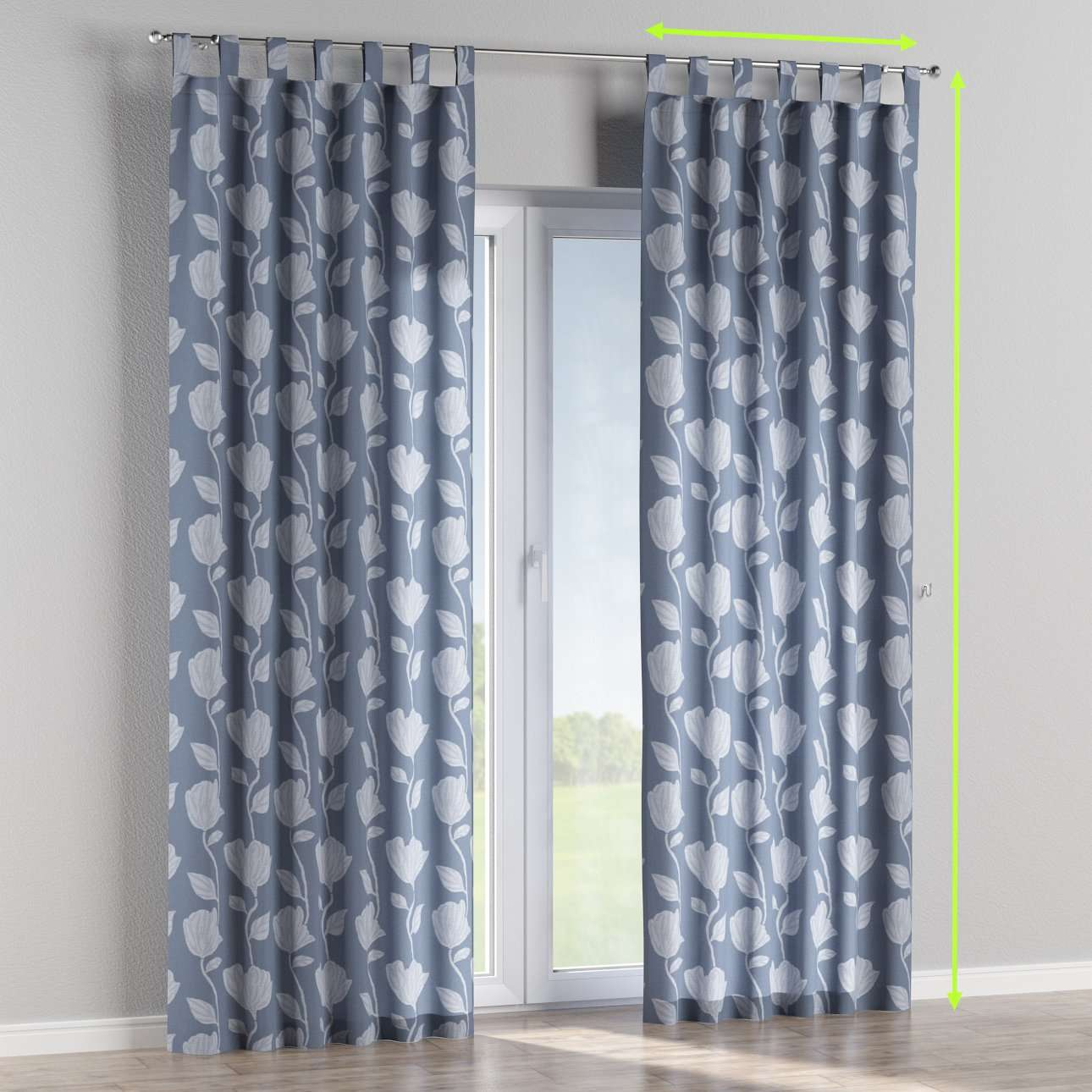 Tab top lined curtains in collection Venice, fabric: 140-61
