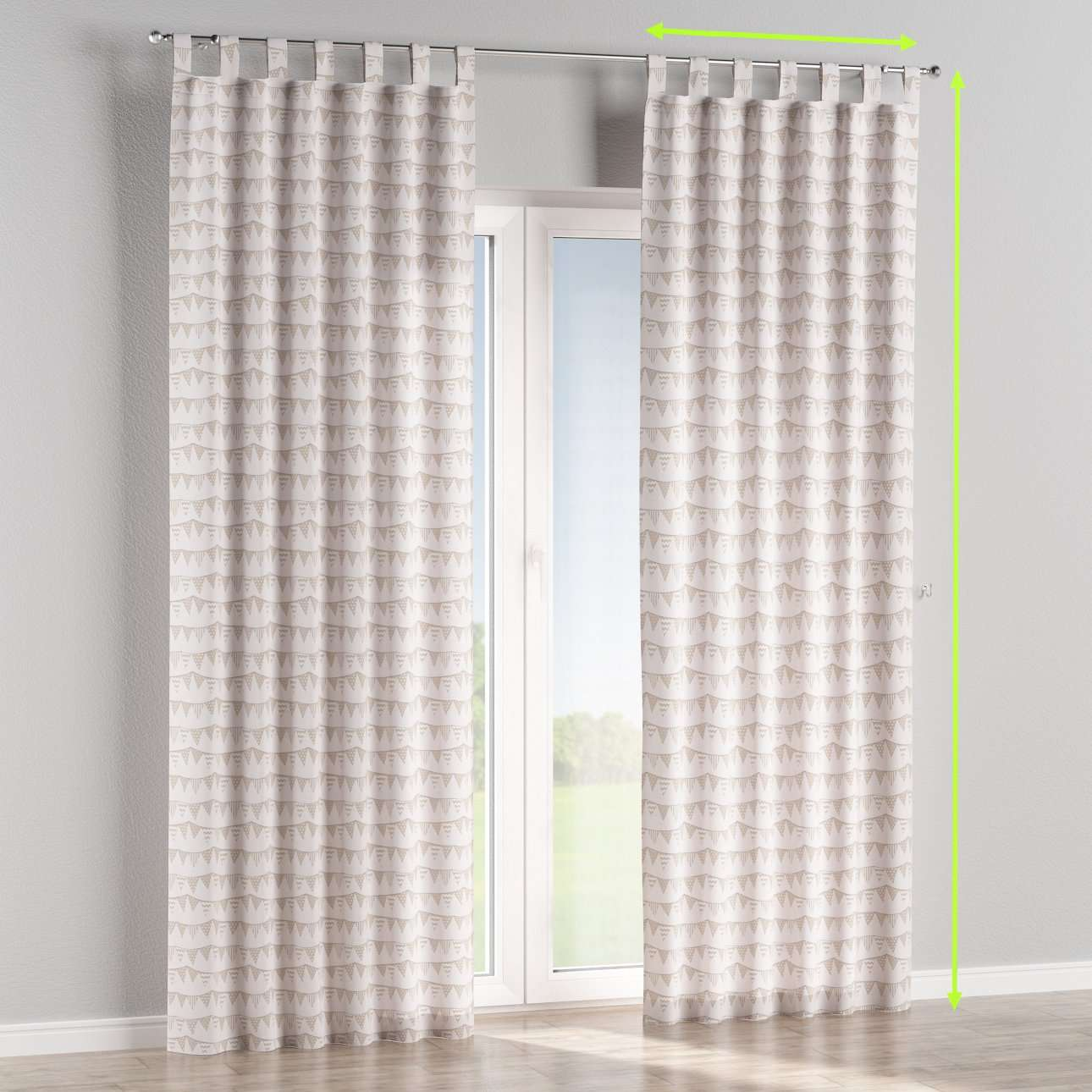 Tab top lined curtains in collection Marina, fabric: 140-65