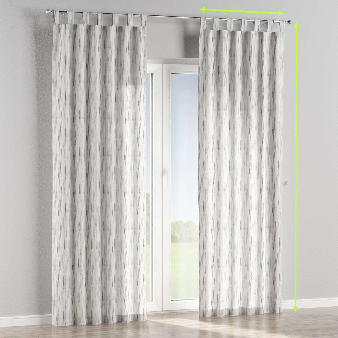 Tab top lined curtains in collection Aquarelle, fabric: 140-66