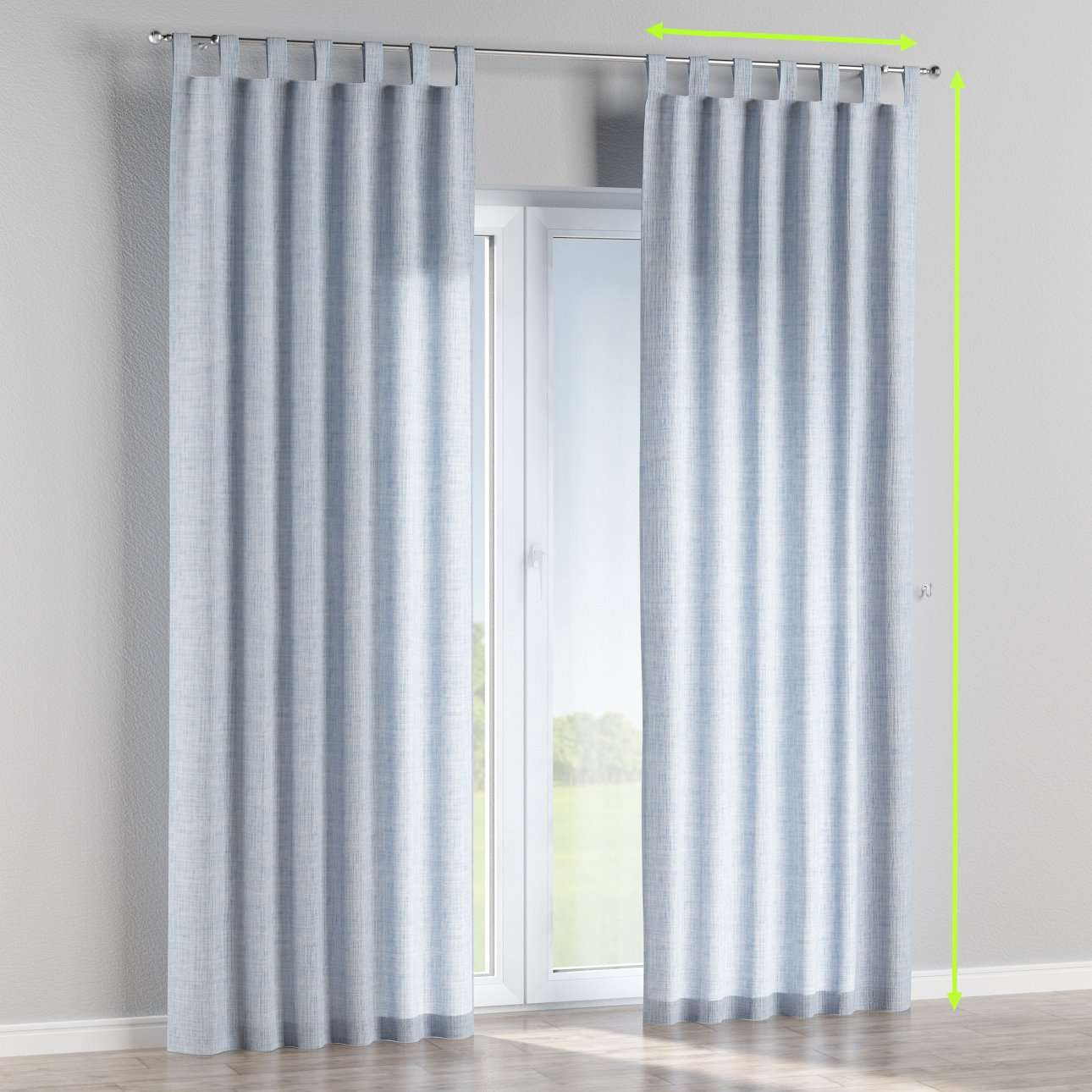 Tab top lined curtains in collection Aquarelle, fabric: 140-74
