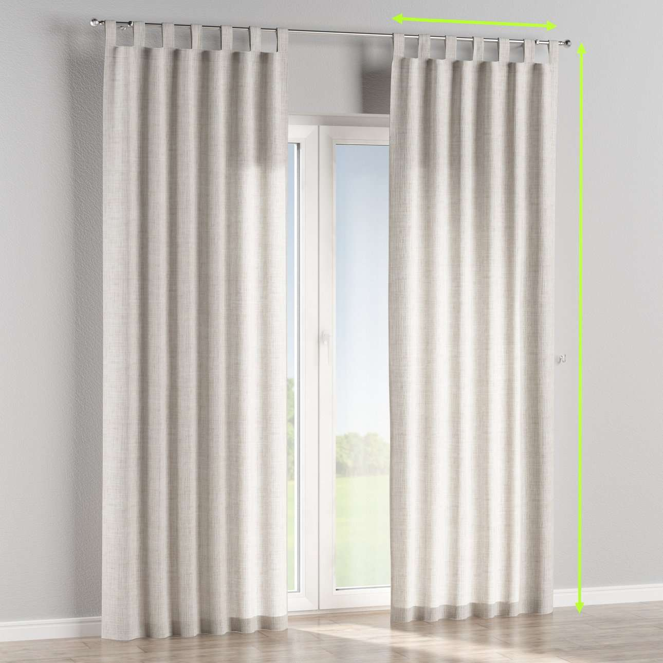 Tab top lined curtains in collection Aquarelle, fabric: 140-75