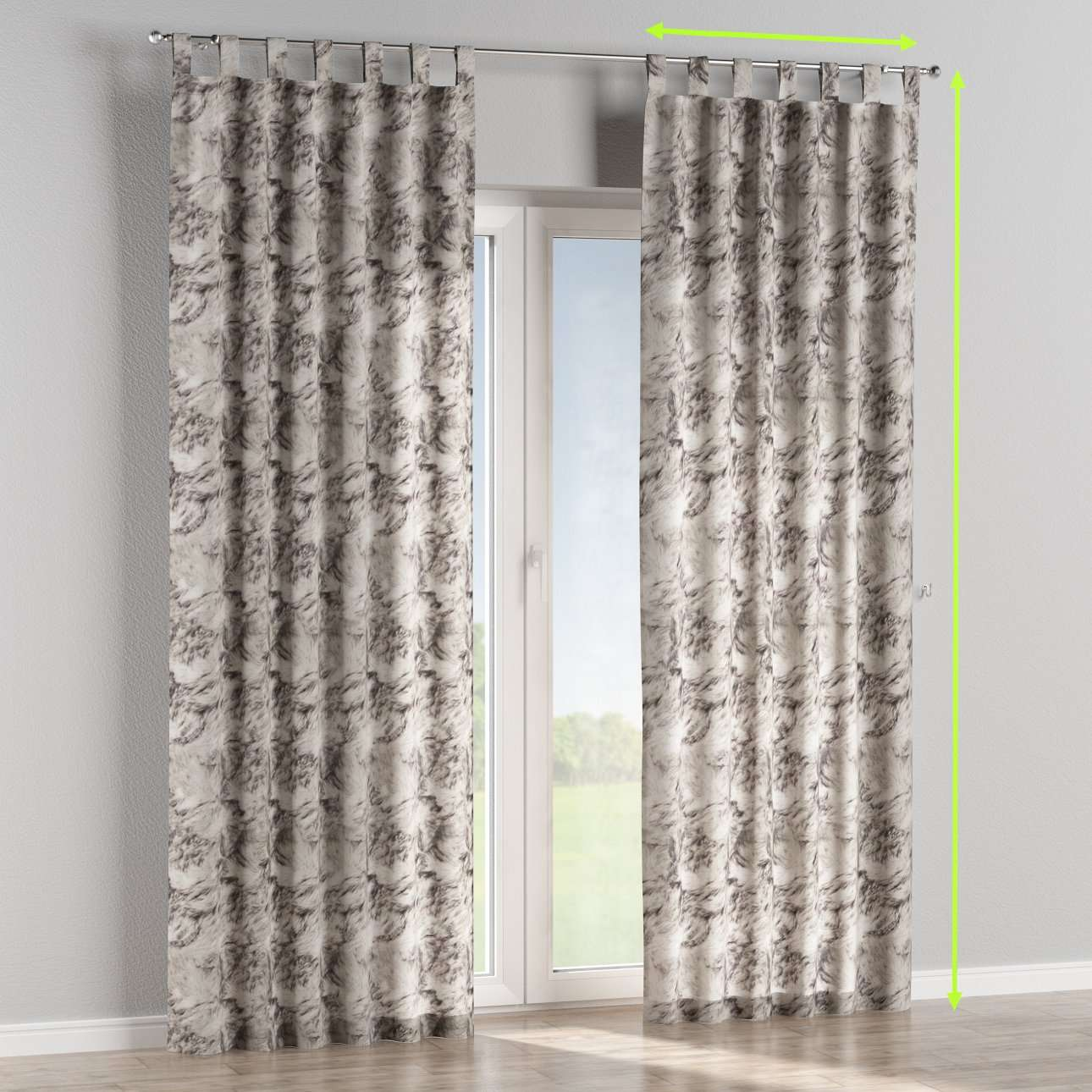 Tab top lined curtains in collection Norge, fabric: 140-82