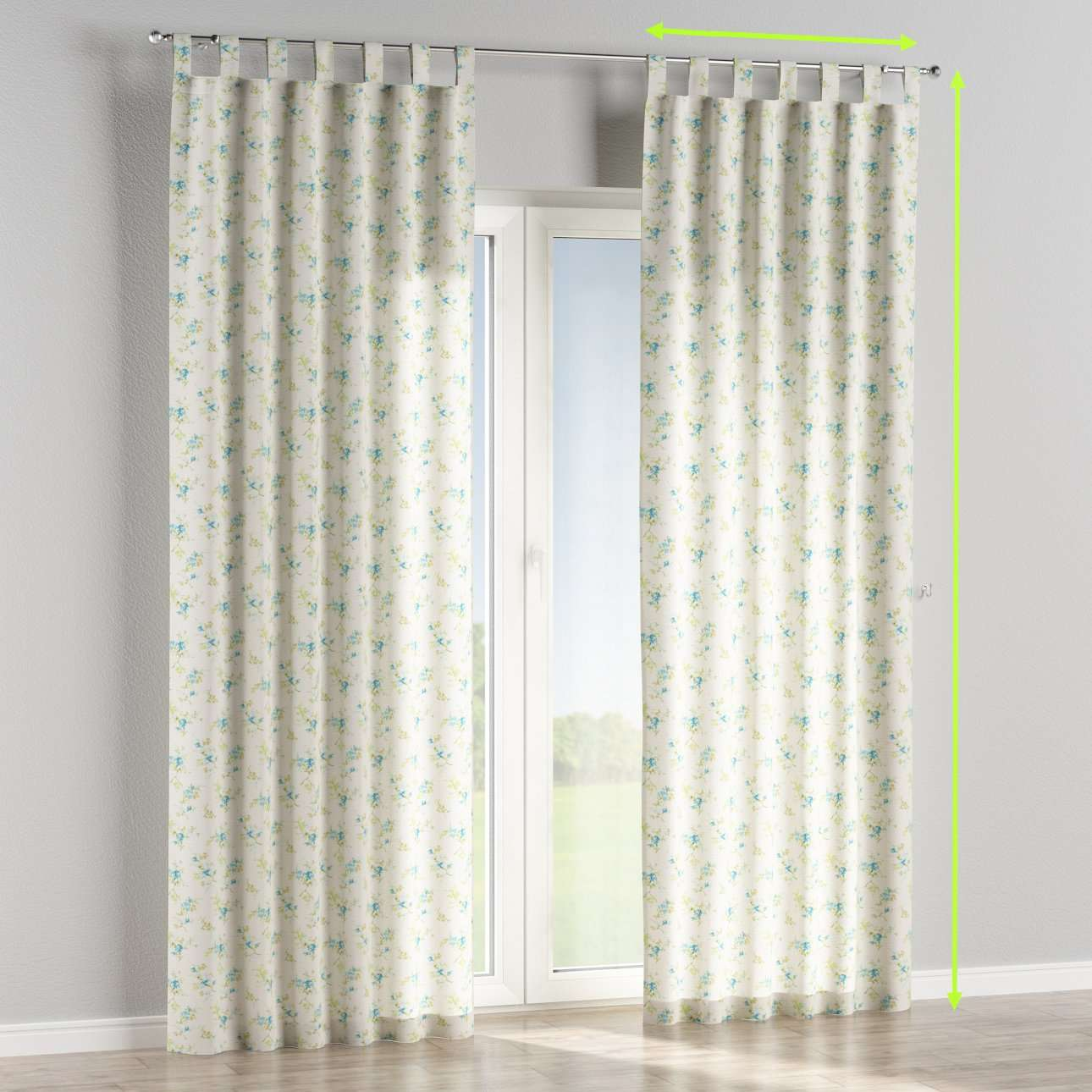 Tab top lined curtains in collection Mirella, fabric: 141-16