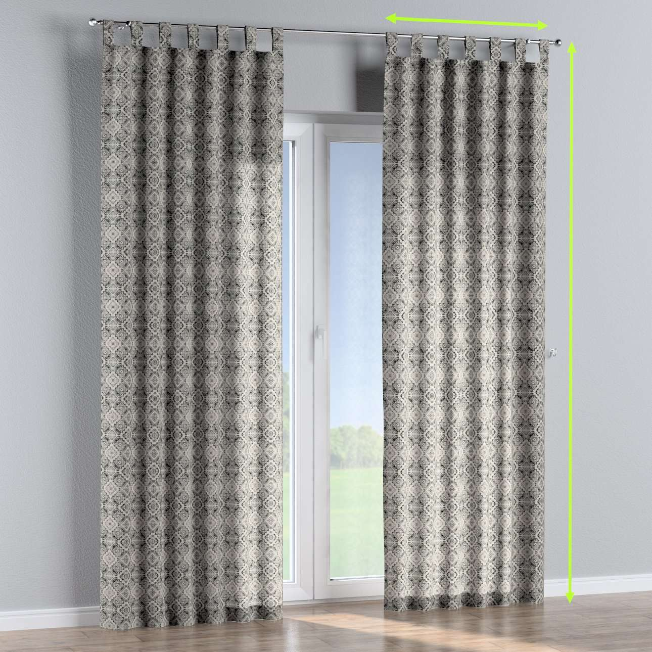 Tab top lined curtains in collection Comics/Geometrical, fabric: 141-18