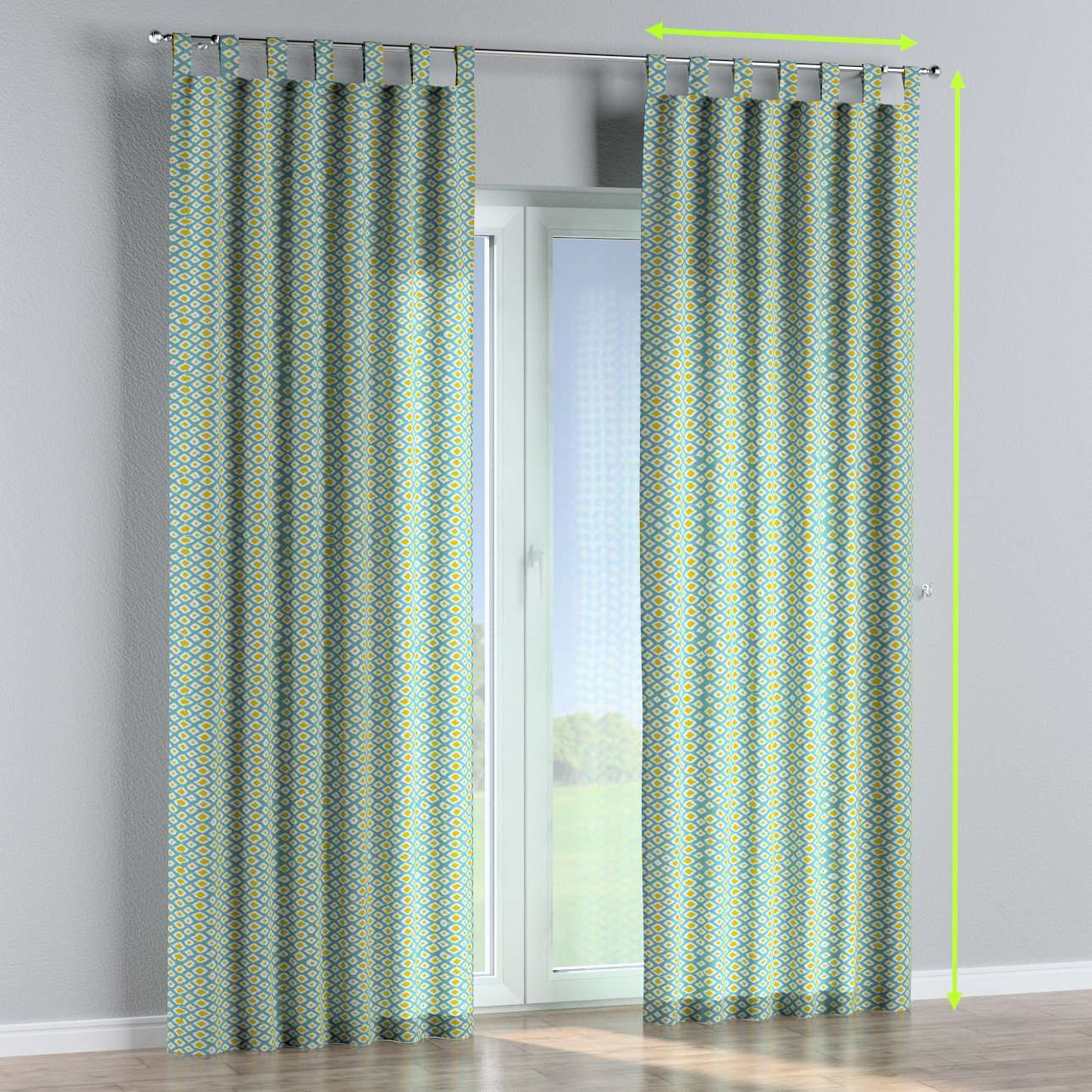 Tab top lined curtains in collection Comic Book & Geo Prints, fabric: 141-20