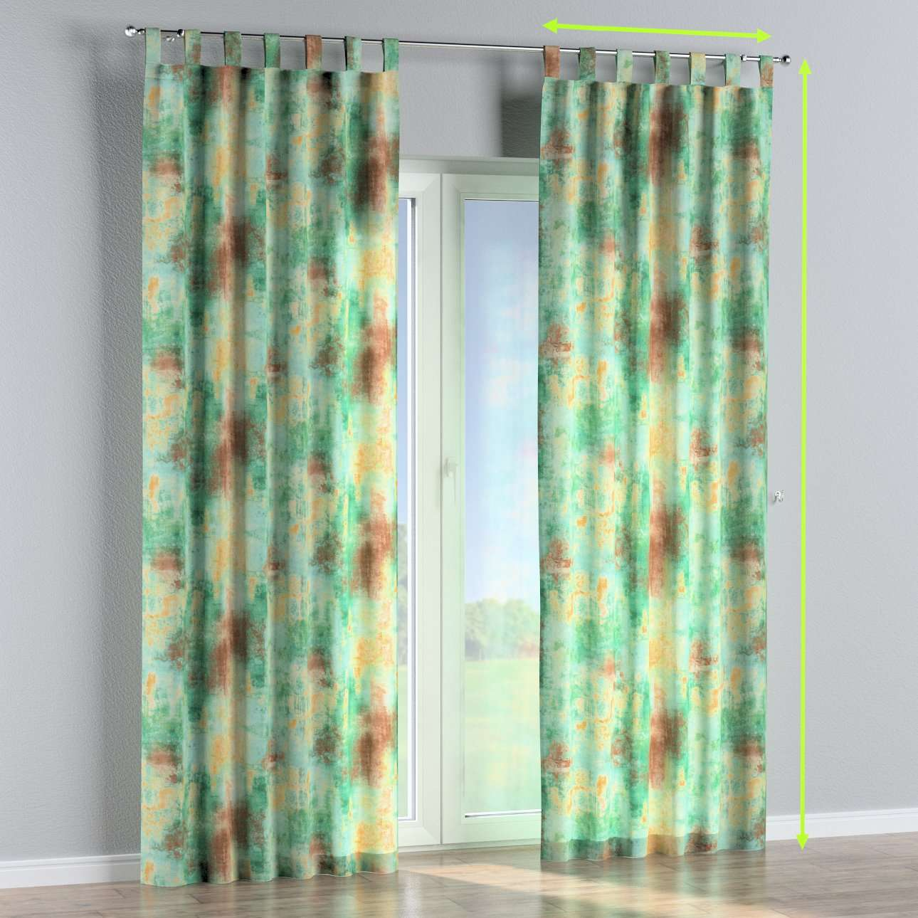Tab top lined curtains in collection Urban Jungle, fabric: 141-22