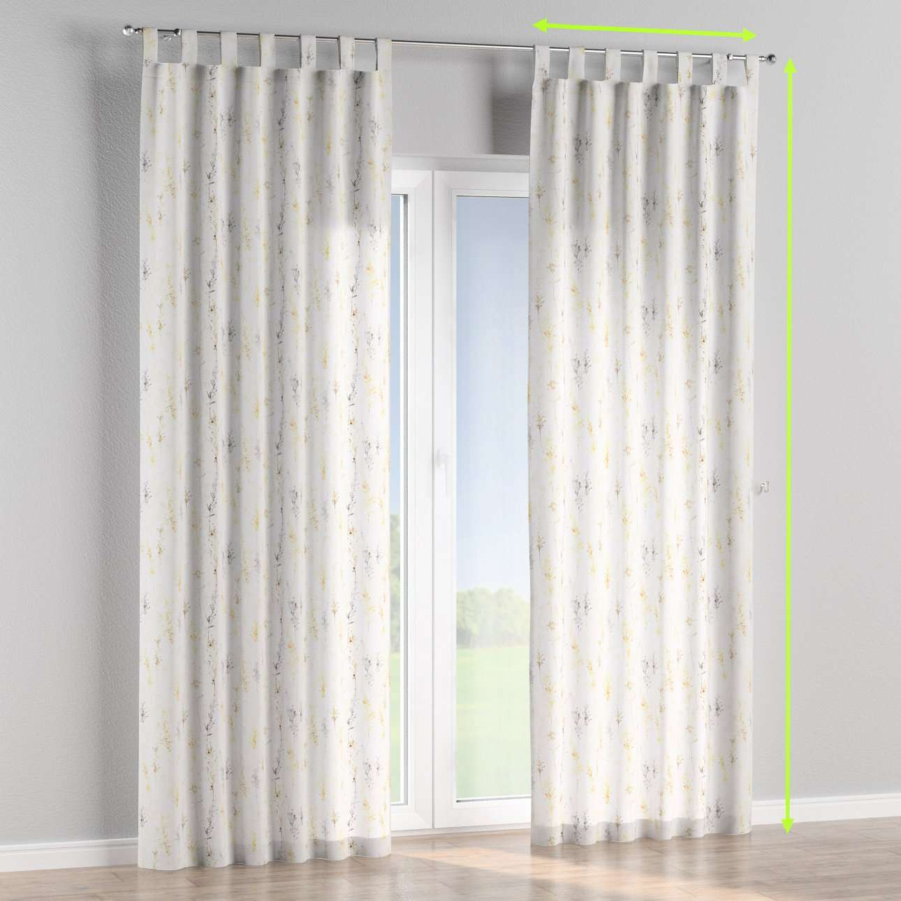 Tab top lined curtains in collection Acapulco, fabric: 141-36