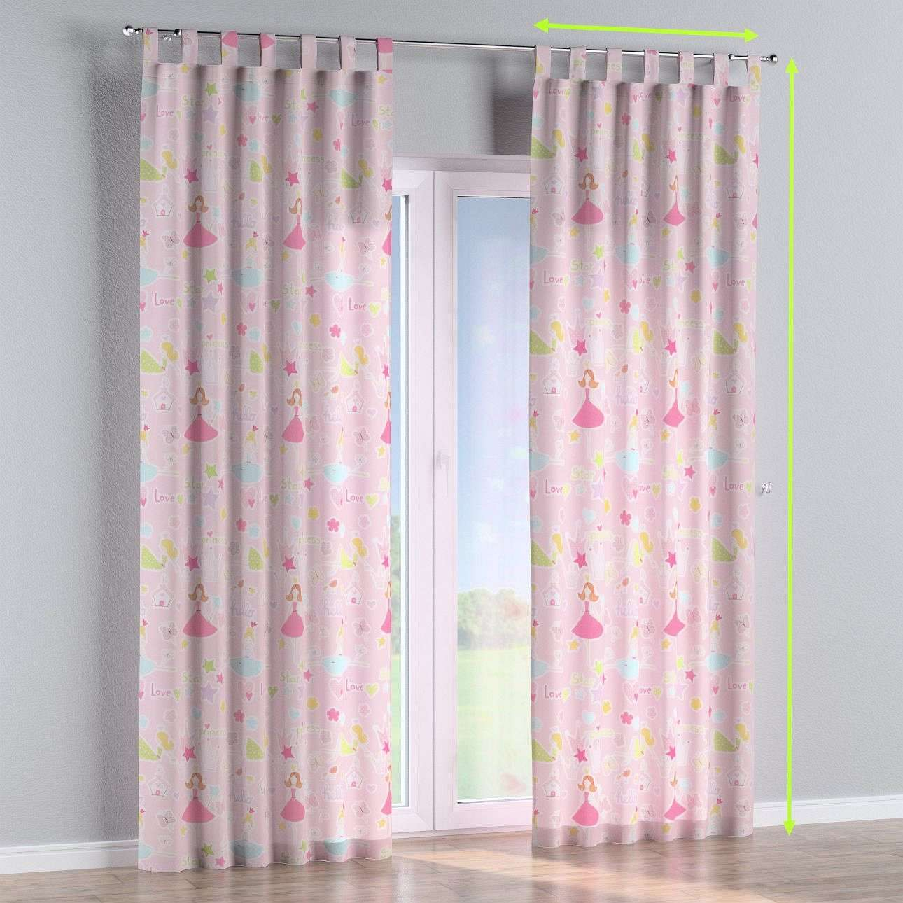 Tab top lined curtains in collection Little World, fabric: 141-50