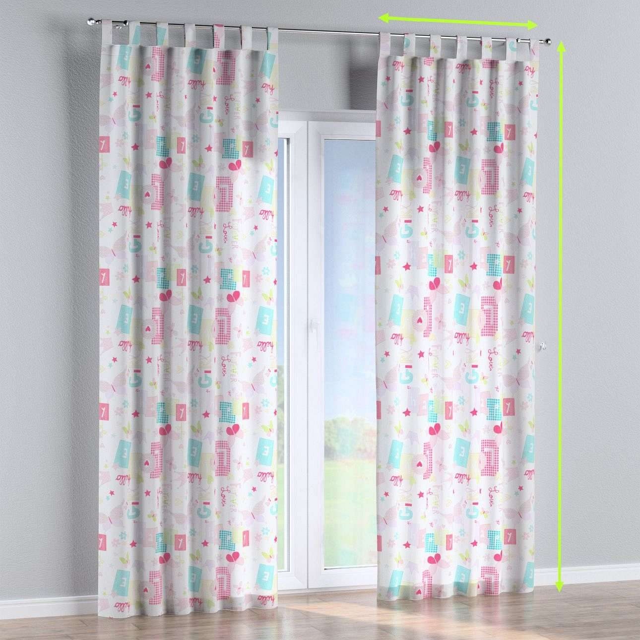 Tab top lined curtains in collection Little World, fabric: 141-51