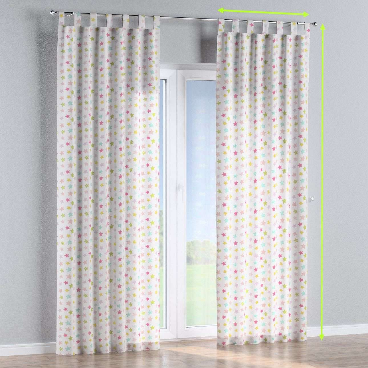 Tab top lined curtains in collection Little World, fabric: 141-52