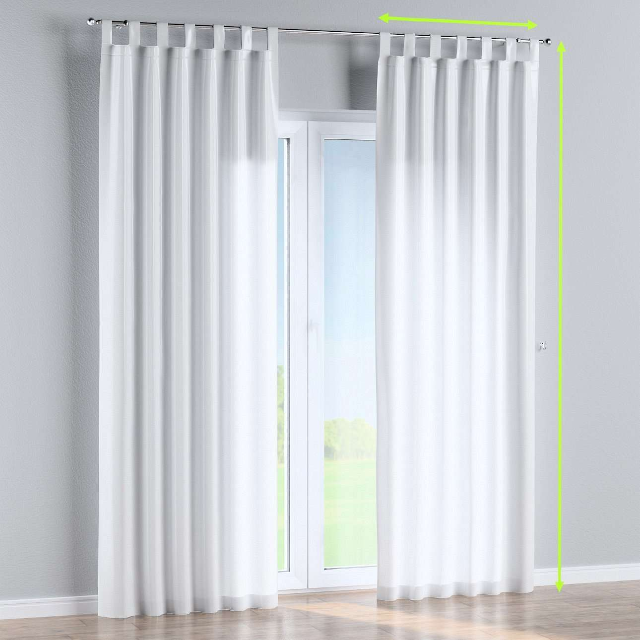Tab top lined curtains in collection Damasco, fabric: 141-78