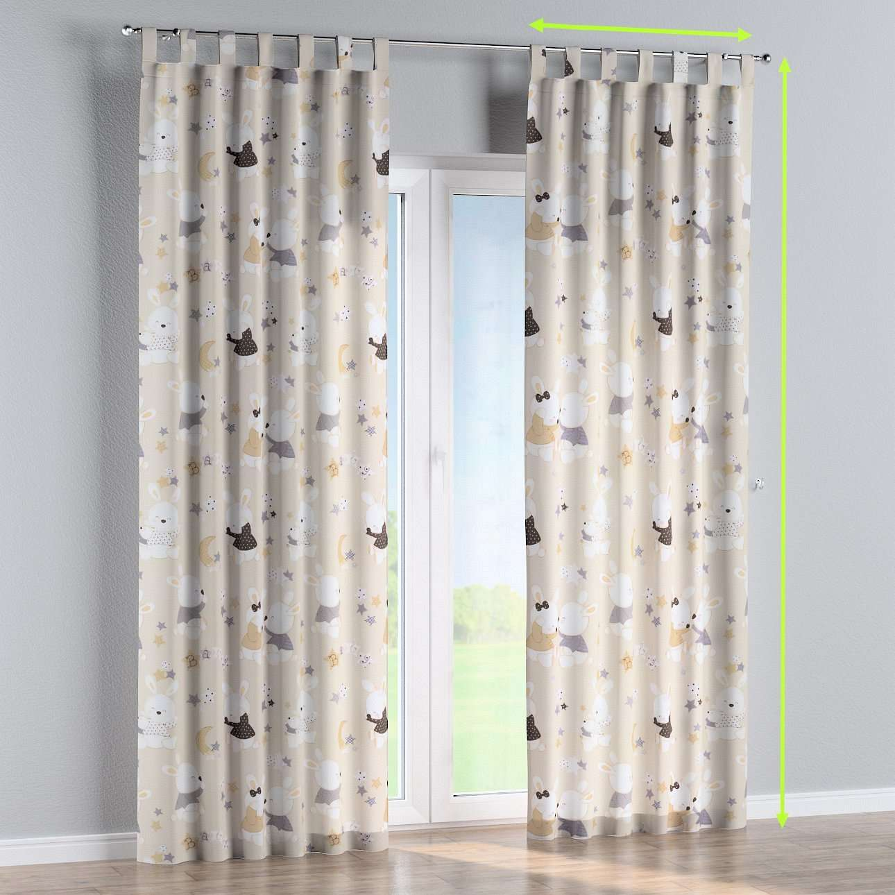 Tab top lined curtains in collection Adventure, fabric: 141-85