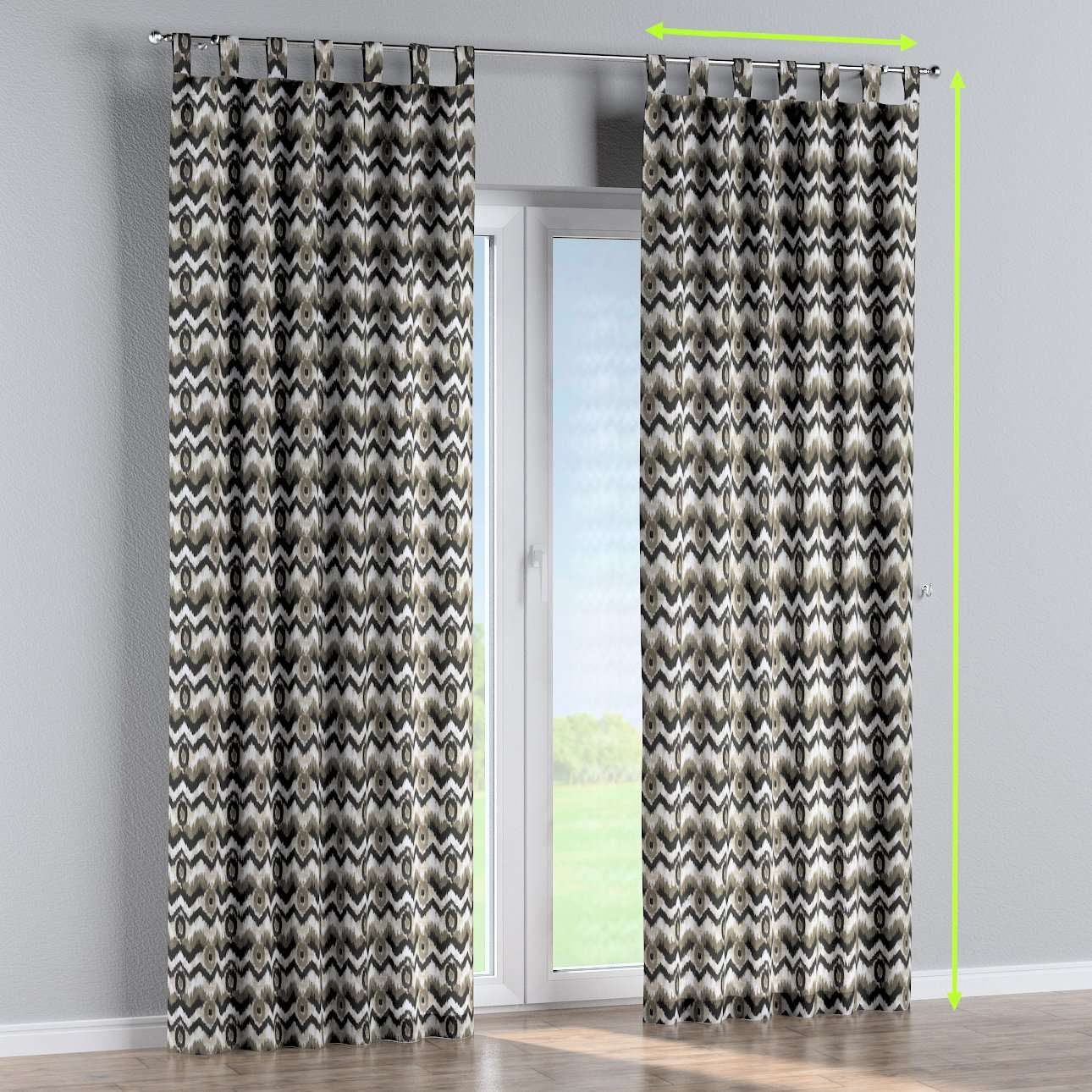 Tab top lined curtains in collection Modern, fabric: 141-88