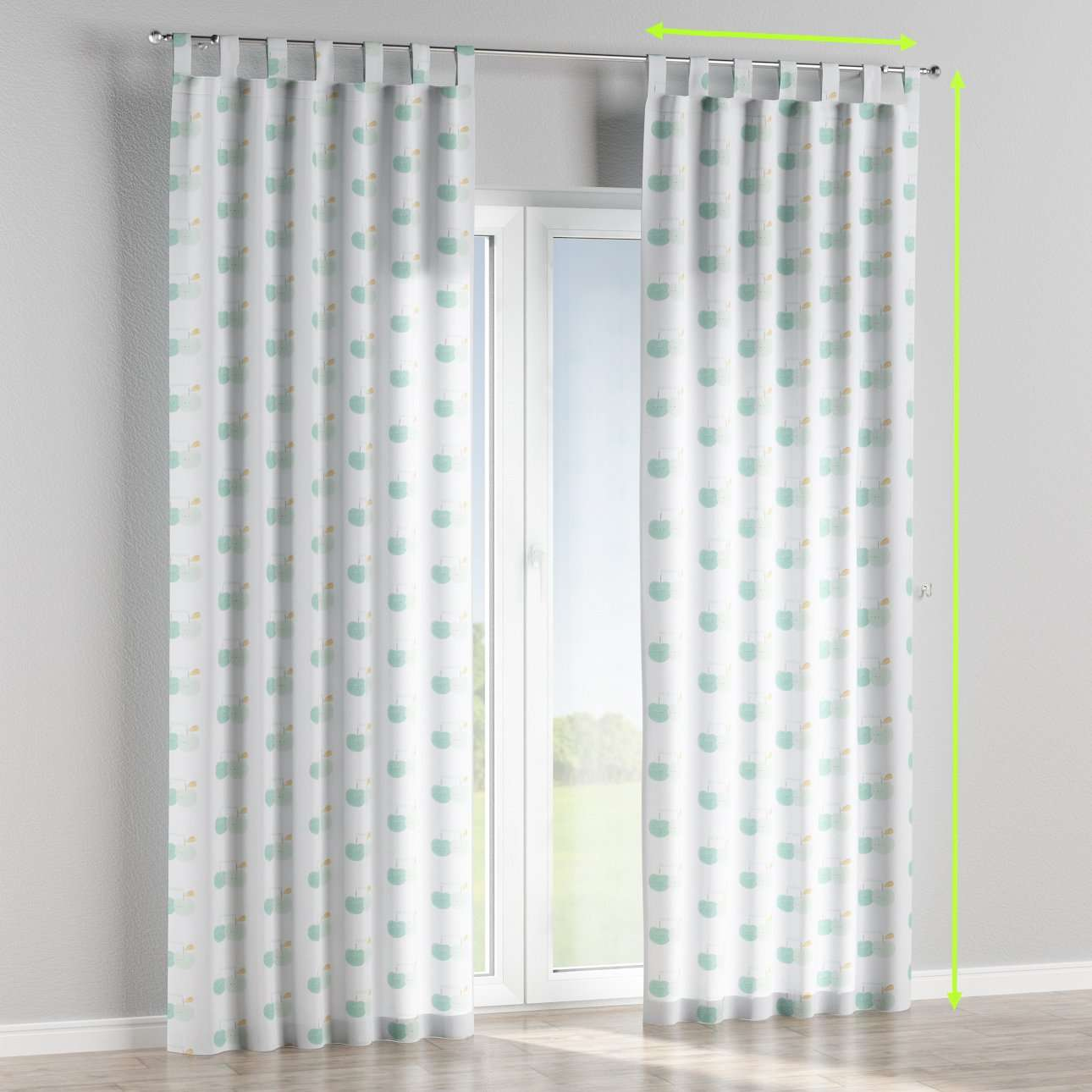 Tab top lined curtains in collection Apanona, fabric: 151-02