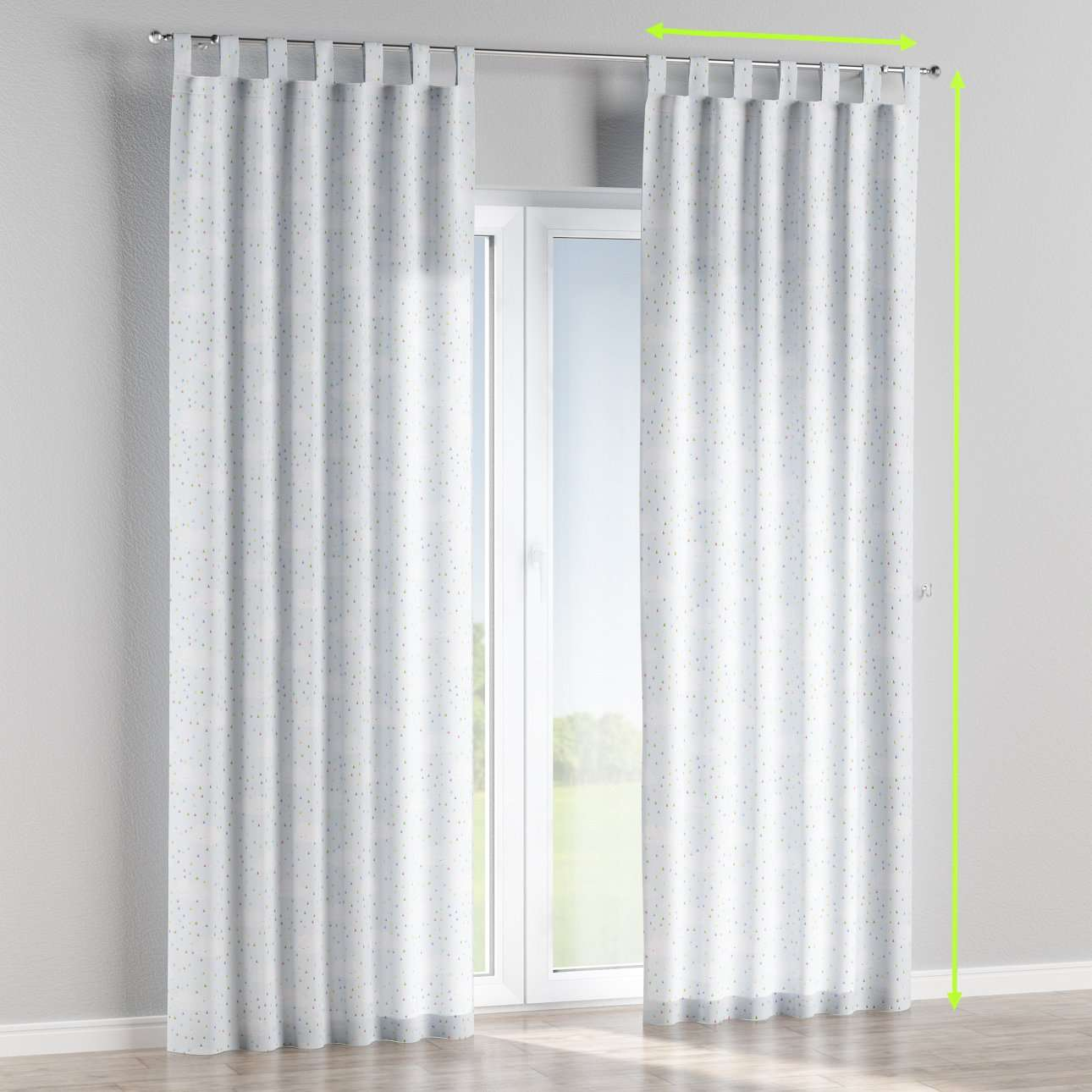 Tab top lined curtains in collection Apanona, fabric: 151-03