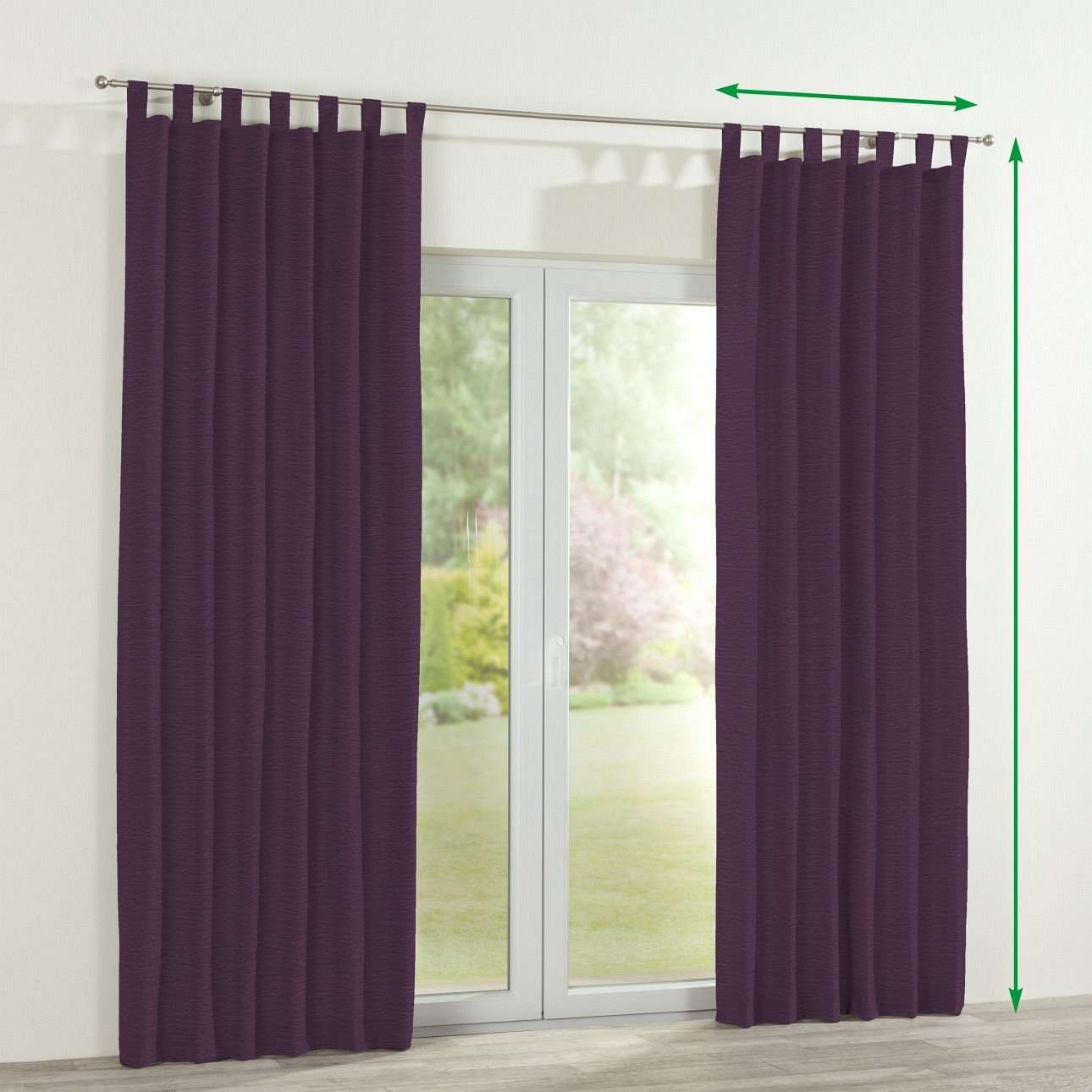 Tab top lined curtains in collection Chenille, fabric: 160-46