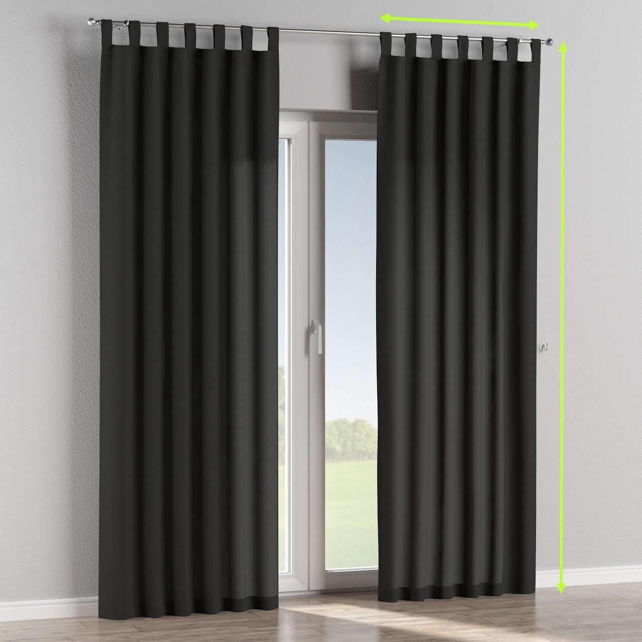 Tab top lined curtains in collection Jupiter, fabric: 127-99