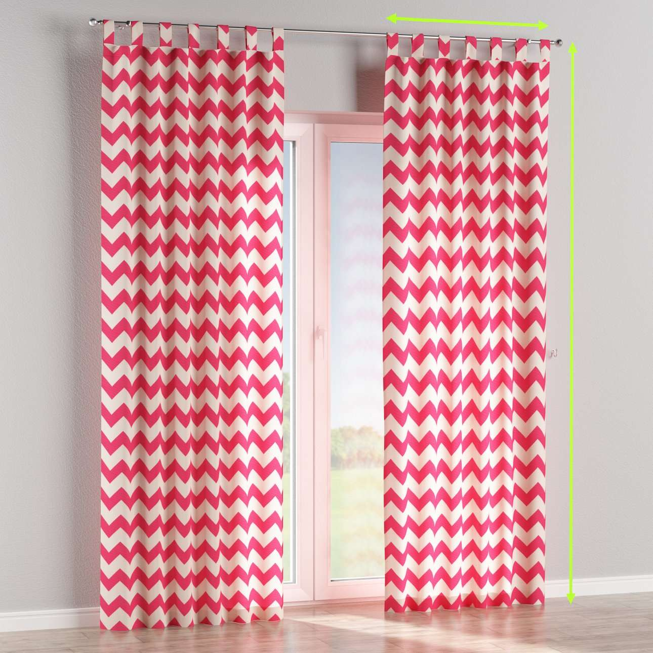 Tab top lined curtains in collection Comics/Geometrical, fabric: 135-00