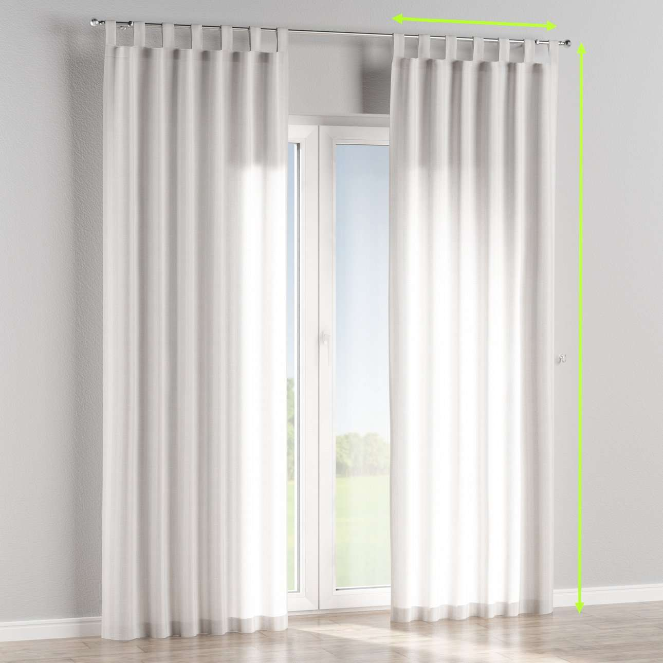Tab top lined curtains in collection Linen , fabric: 392-03