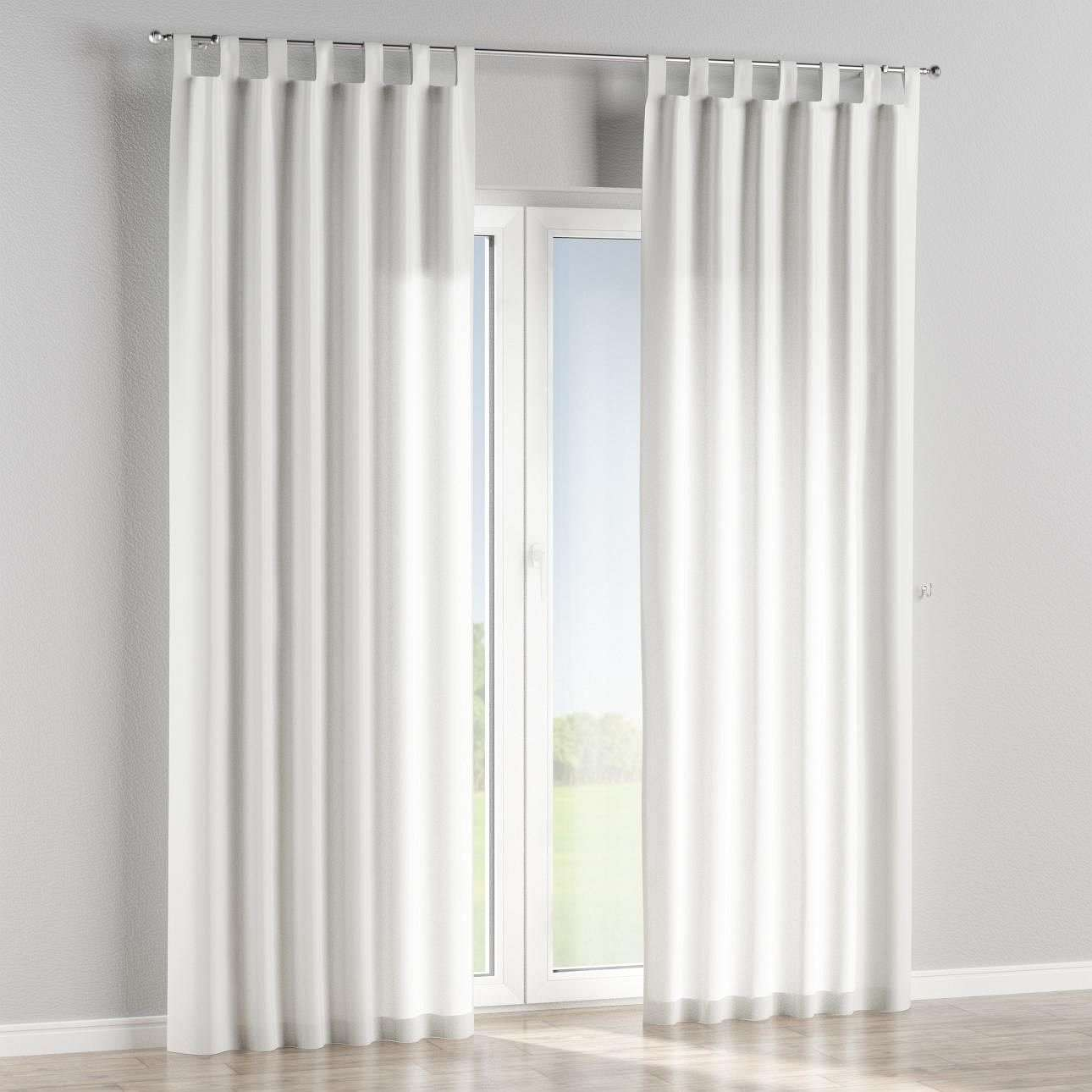 Tab top lined curtains in collection Linen , fabric: 457-09