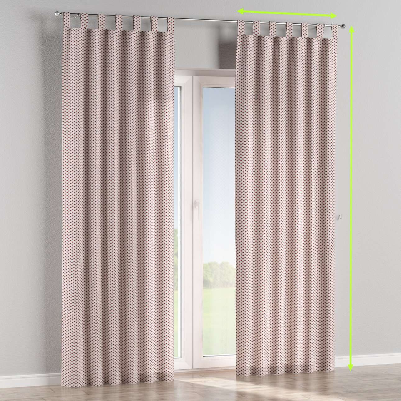Tab top lined curtains in collection Nordic, fabric: 630-04