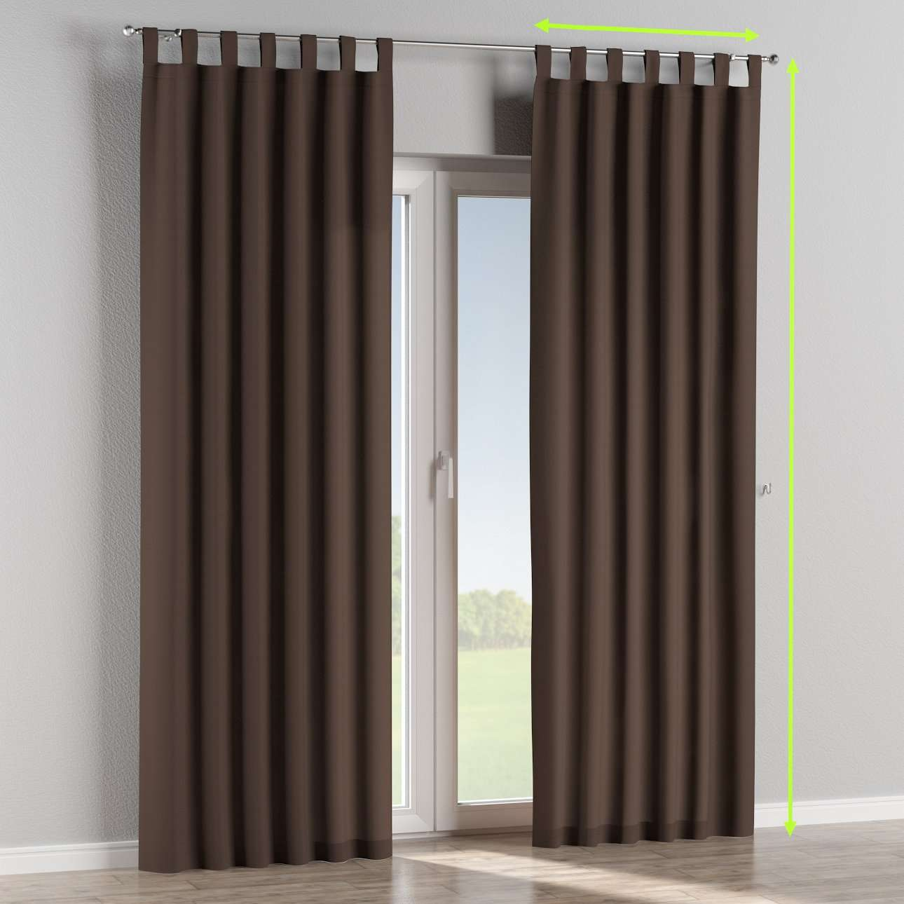 Tab top lined curtains in collection Cotton Panama, fabric: 702-03
