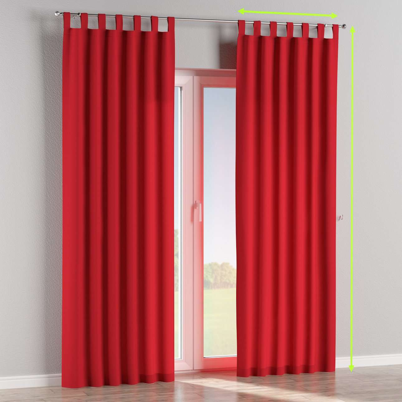 Tab top lined curtains in collection Cotton Panama, fabric: 702-04